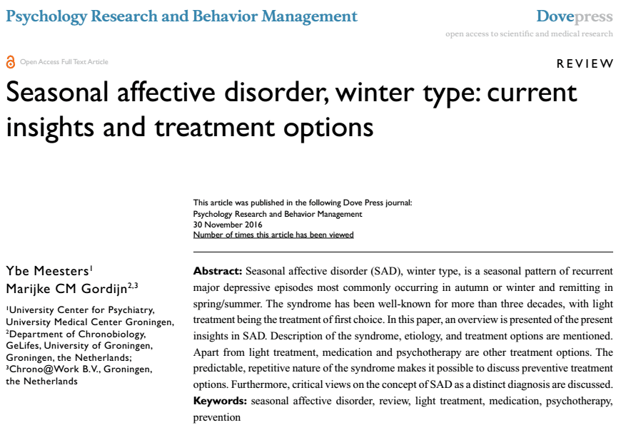 research papers on seasonal affective disorder Free college essay bipolar affective disorder bipolar affective disorder has been a mystery since the 16th century history has shown that this disorder can appear.